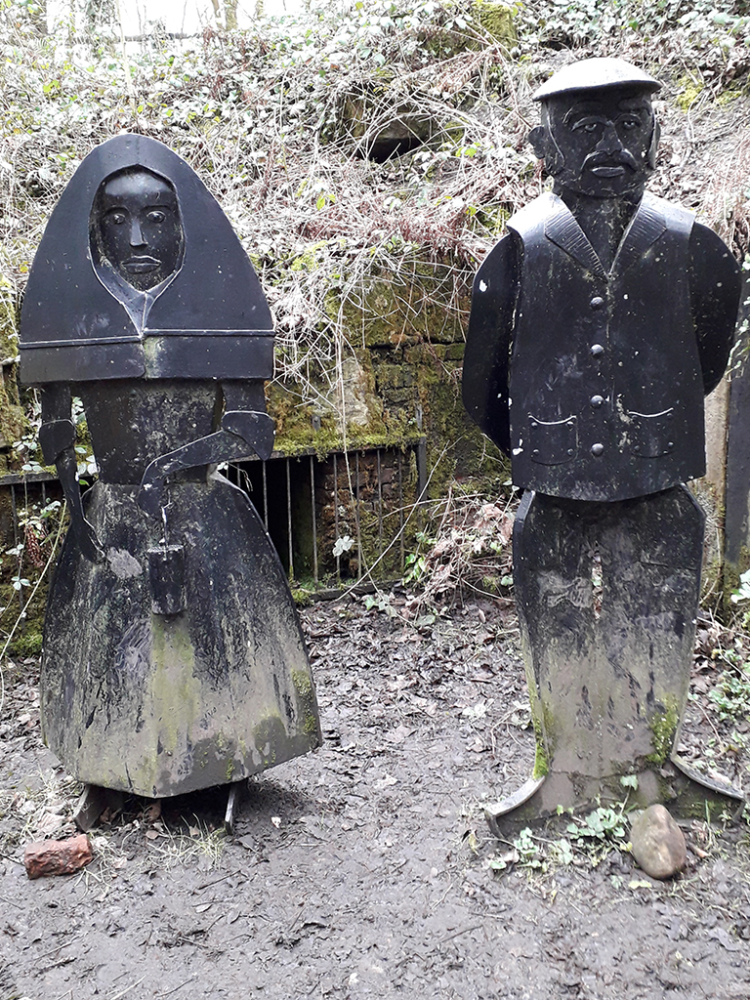Pitman and Pitbrowlass Sculpture